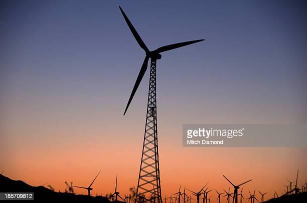 Desert wind turbines