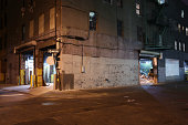 Deserted Brooklyn DUMBO Backstreet at Night