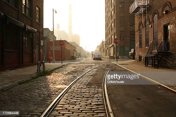 Deserted Brooklyn DUMBO Cobblestone Backstreet Morning