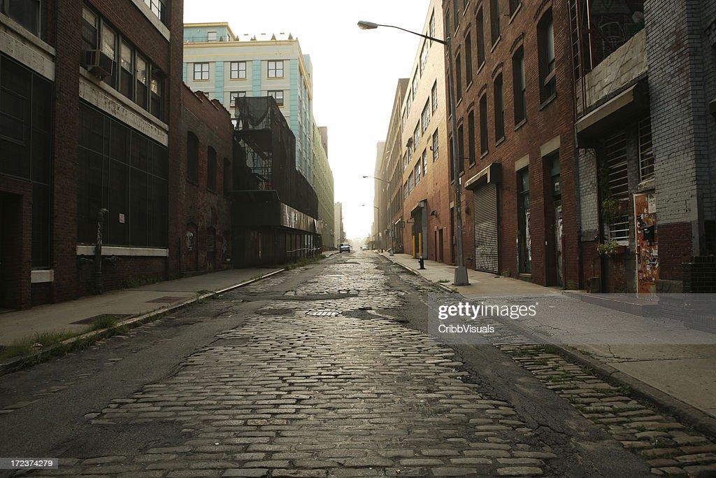 Ses de Brooklyn, DUMBO rue pavée Backstreet matin : Photo