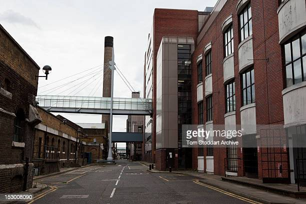 Deserted buildings and offices inside the former News International base in Wapping East London Media mogul Rupert Murdoch moved his British...