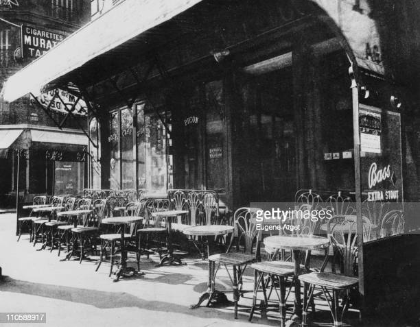 A deserted cafe on the Avenue de la GrandeArmee Paris circa 1925