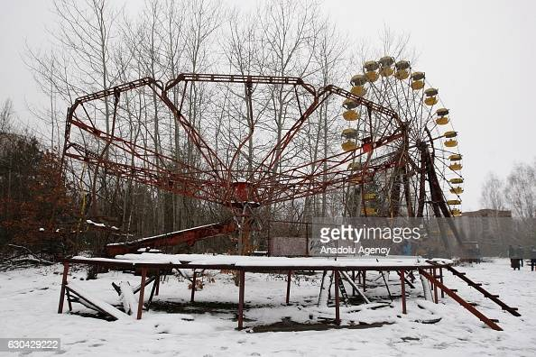 Deserted city Pripyat near Chernobyl nuclear power plant Ukraine on December 22 2016 The Chernobyl accident occurred on 26 April 1986 at the...