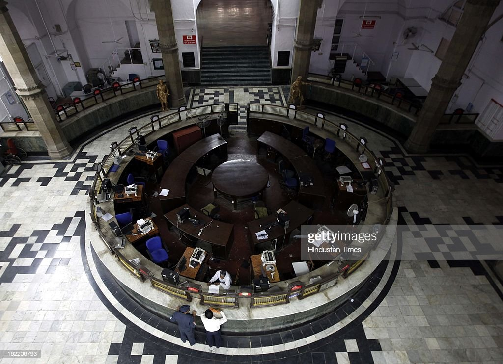 A deserted General Post Office as all employee unions across the state supported 48 hours strike called by 11 national trade unions against the UPA Government's economic and alleged anti-labour policies on February 20, 2013 in Mumbai, India.