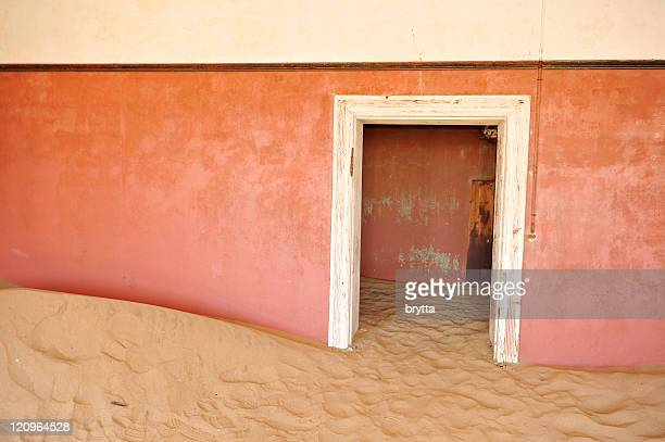Deserted house in Kolmanskop, a ghost town near Luderits,Namibia