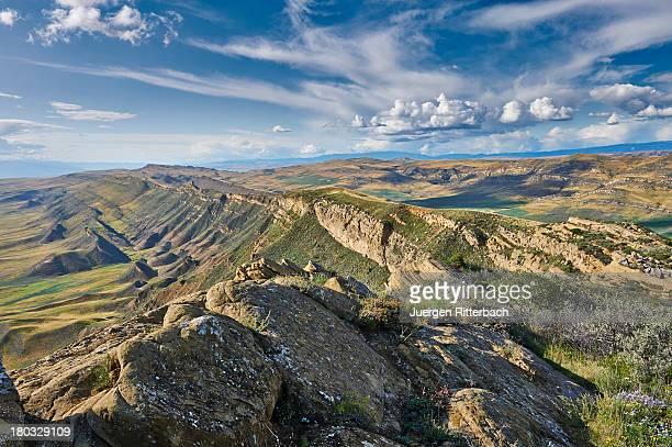 deserted landscape at the Azerbaijan border