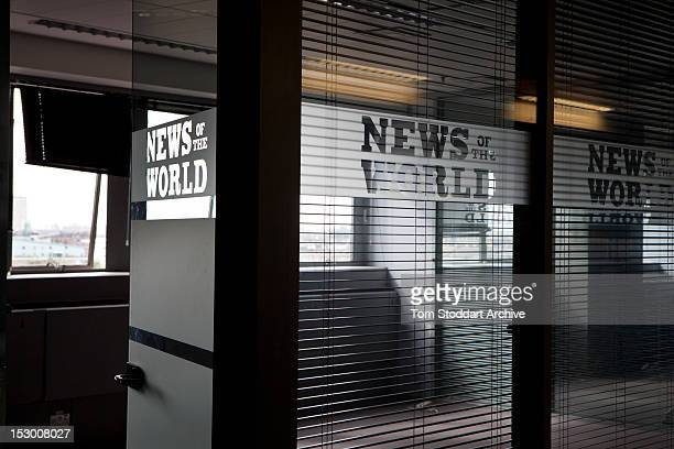 Deserted offices of News of the World executives near the newsroom inside the former News International base in Wapping East London Media mogul...