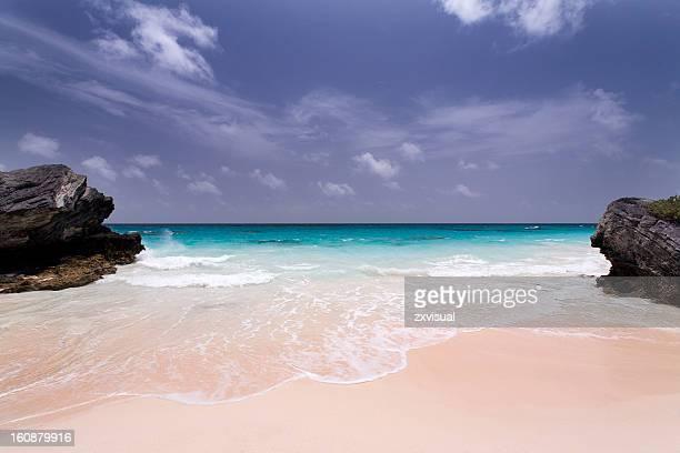 Deserted Pink Sand Beach in Bermuda