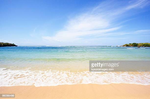 A deserted tropical beach at Nusa Dua resort town