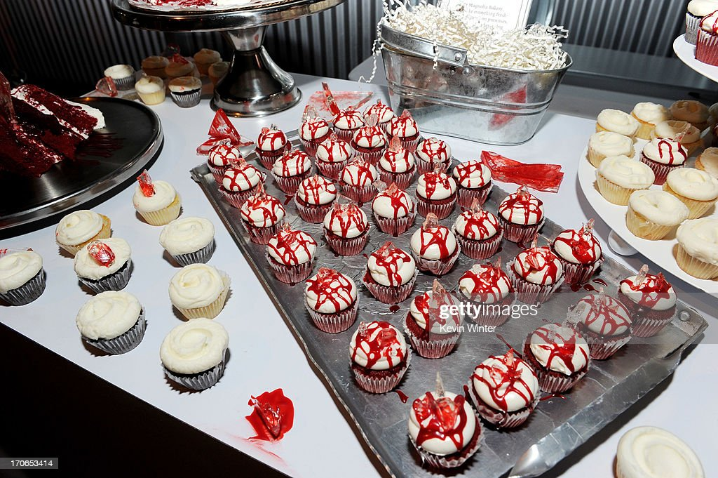 Deserts are shown at the premiere screening of Showtime's 'Dexter' Season 8 at Milk Studios on June 15, 2013 in Los Angeles, California.