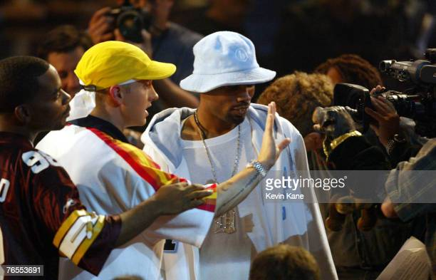 Deshaun Holton AKA 'Proof' of D12 Eminem waves his hand in the face of Triumph The Comic Dog after Triumph involved Eminem in commentary about Moby...