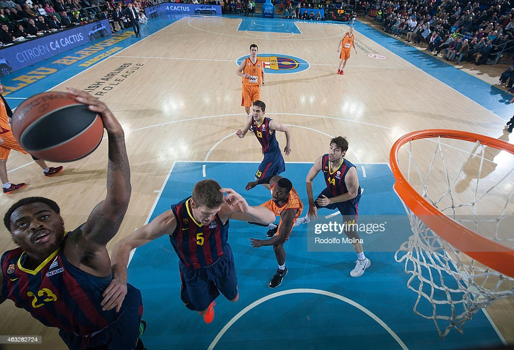 Deshaun Thomas #23 of FC Barcelona in action during the Turkish Airlines Euroleague Basketball Top 16 Date 7 game between FC Barcelona v Galatasaray...