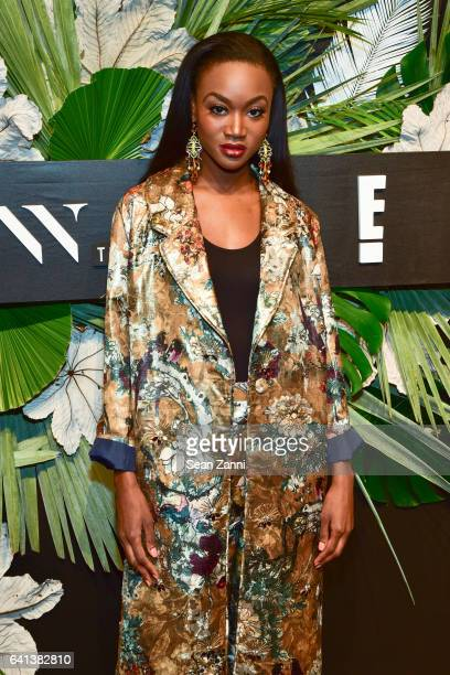 Deshauna Barber attends ELLE E And IMG Host New York Fashion Week February 2017 KickOff Event at 40 Bethune Street on February 8 2017 in New York City