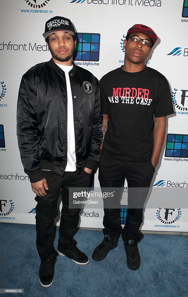 Deshawn Raw arrives to the Forefront TV Launch Partyon February 7, 2013 in Los Angeles, California.