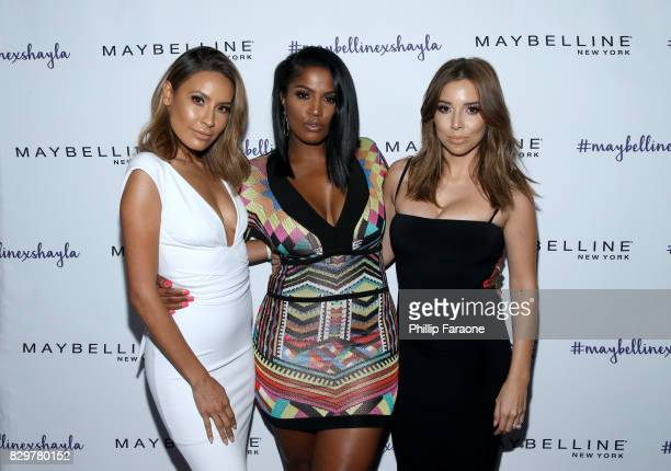 Desi Perkins Shayla Mitchell and Katy DeGroot attend Maybelline New York Celebrates First Ever Cobranded Product Collection With Beauty Influencer...