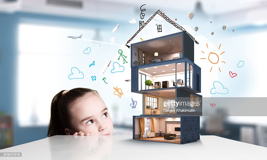 Design of your dream house . Mixed media : Stock Photo