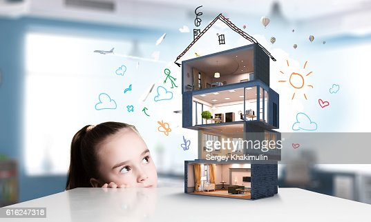 Design of your dream house . Mixed media : Foto stock