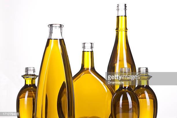 Design avec de l'huile d'Olive en bouteilles Horizontal