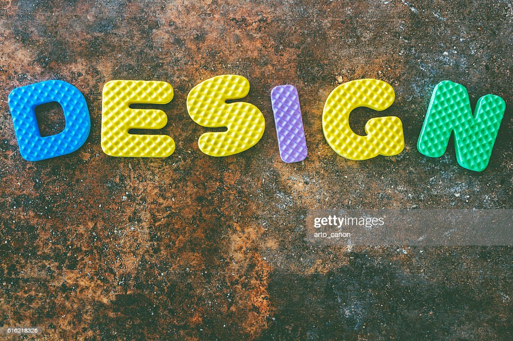 Design word in vintage  on stone  background : Photo