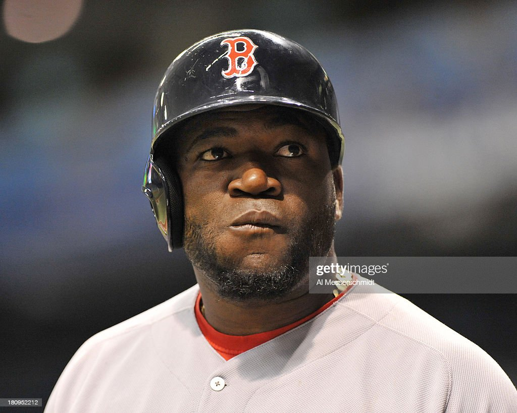 Designated hitter David Ortiz #34 of the Boston Red Sox sets to bat against the Tampa Bay Rays September 10, 2013 at Tropicana Field in St. Petersburg, Florida.