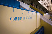 Designated seating for home club directors inside the stadium pictured before Greenock Morton take on Stranraer in a Scottish League One match at...