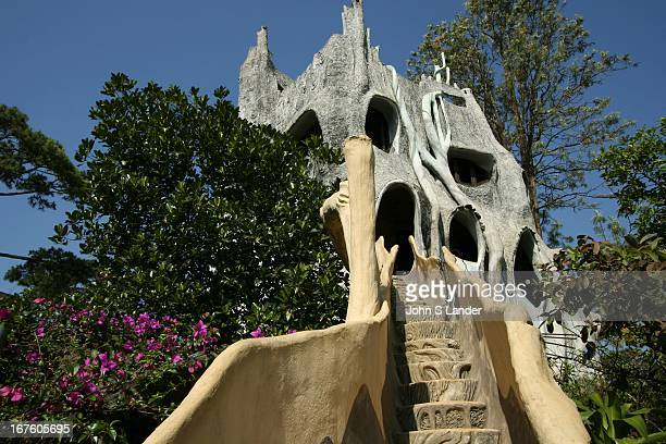 Designed by architect Dr Dang Viet Nga this collection of buildings is called the Crazy House by the people of Dalat because of its outlandish design...