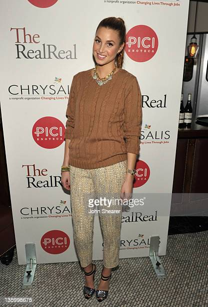 Designer/ Actress Whitney Port attends The RealReal / Chrysalis Charity Benefit Curated By Shenae Grimes at Pici Enoteca on December 15 2011 in...