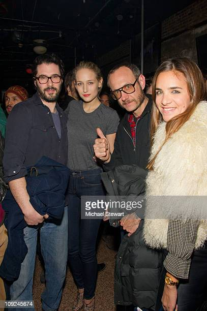 Designer Adam Kimmel Actress Leelee Sobieski and Photographer Terry Richardson attend the Adam Kimmel x Carhartt party at Don Hill's on February 16...