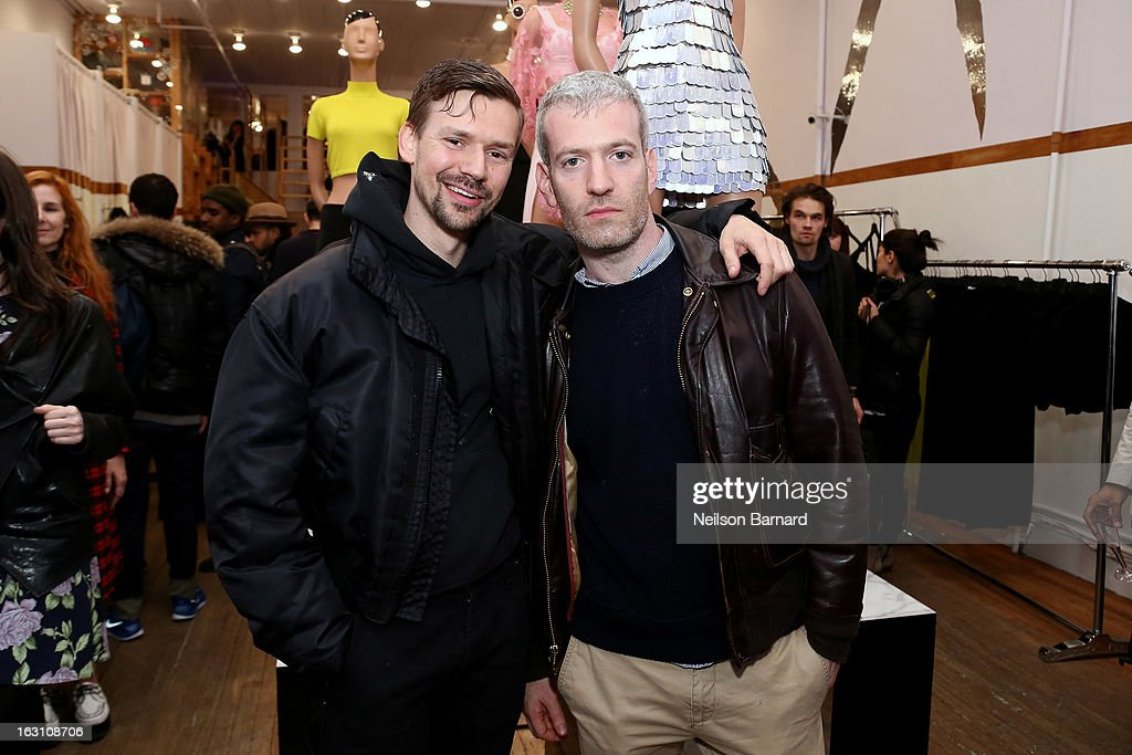 Designer Adam Selman (L) and stylist Mel Ottenberg attend the Opening Ceremony RIHtrospective: Seven Rihanna Fashion Moments at Opening Ceremony on March 4, 2013 in New York City.