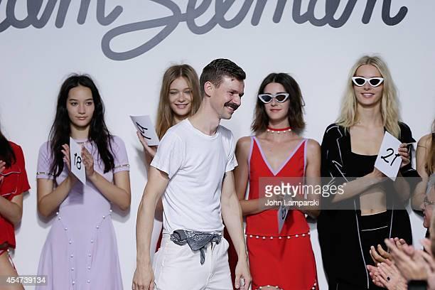 Designer Adam Selman attends the Adam Selman Presentation MercedesBenz Fashion Week Spring 2015 at Algus Greenspon Gallery on September 5 2014 in New...