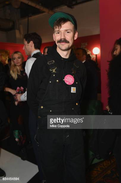 Designer Adam Selman attends the Papyrus celebration of the first night at New York Fashion Week and The Andy Warhol @ Christie's Exhibition on...