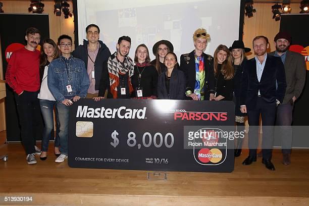 Designer Adam Selman Senior Vice President of Digital Payments and Labs for MasterCard Sherri Haymond Parsons School of Fashion Dean Burak Cakmak and...
