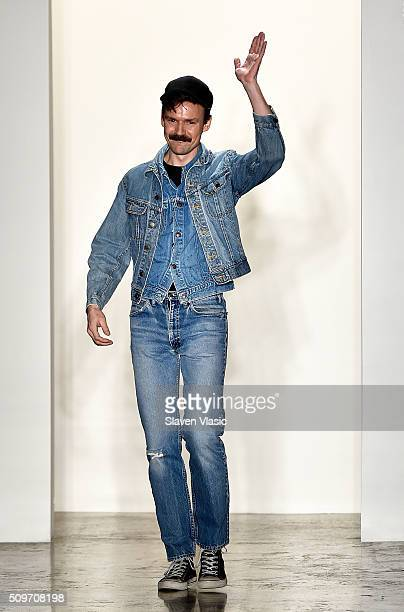 Designer Adam Selman walks the runway at Adam Selman fashion show during Fall 2016 MADE Fashion Week at Milk Studios on February 11 2016 in New York...