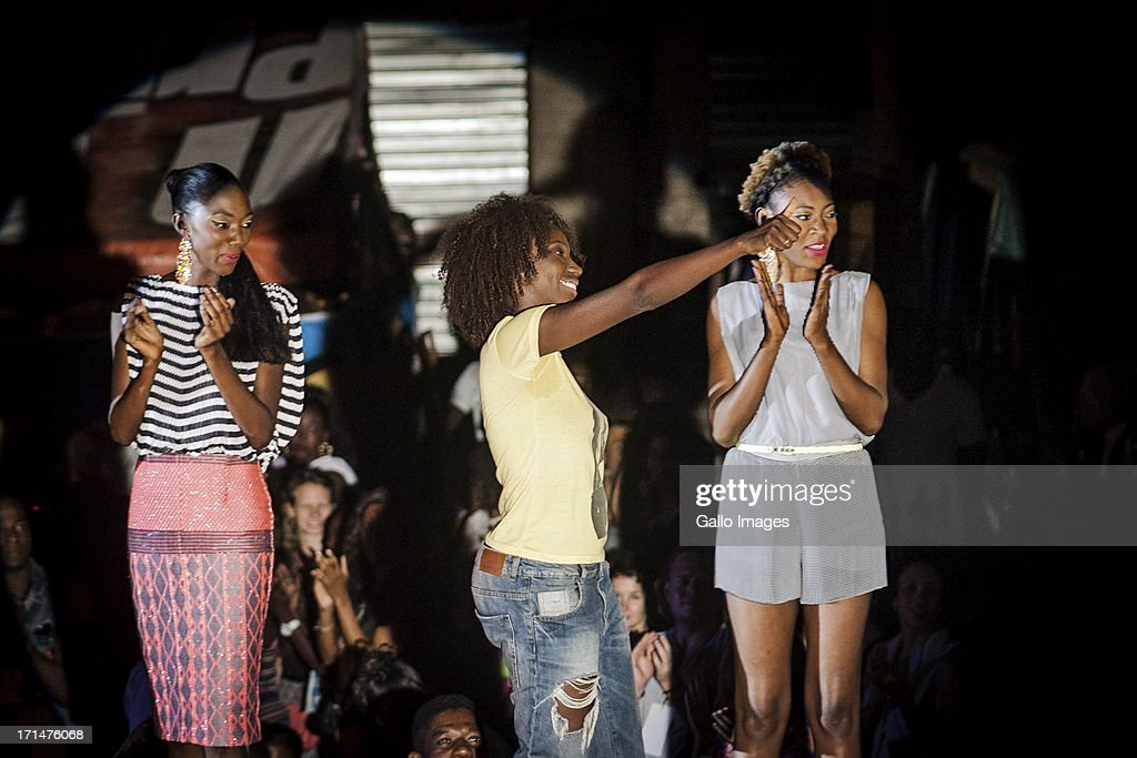 Designer Adama Paris at the Dakar Fashion Week on June 21, 2013, in Dakar, Senegal. Day three of the Dakar Fashion Week 2013 saw the first fashion show with the collection of Adama Paris, Virginie Ayissi, Bibas and Evgheni.