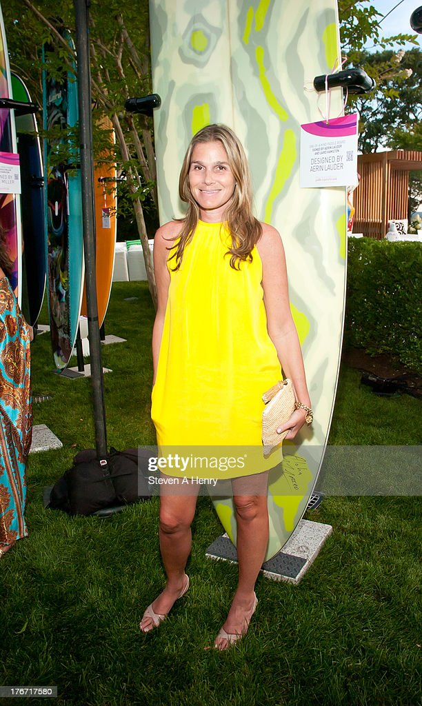 Designer Aerin Lauder attends the 2nd annual Paddle & Party for Pink on August 17, 2013 in Sag Harbor, New York.