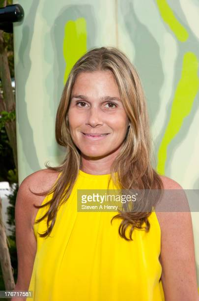 Designer Aerin Lauder attends the 2nd annual Paddle Party for Pink on August 17 2013 in Sag Harbor New York