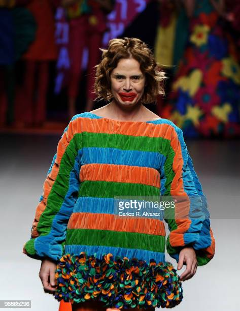 Designer Agatha Ruiz de la Prada at the end of her show during Cibeles Fashion Week at Ifema on February 19 2010 in Madrid Spain
