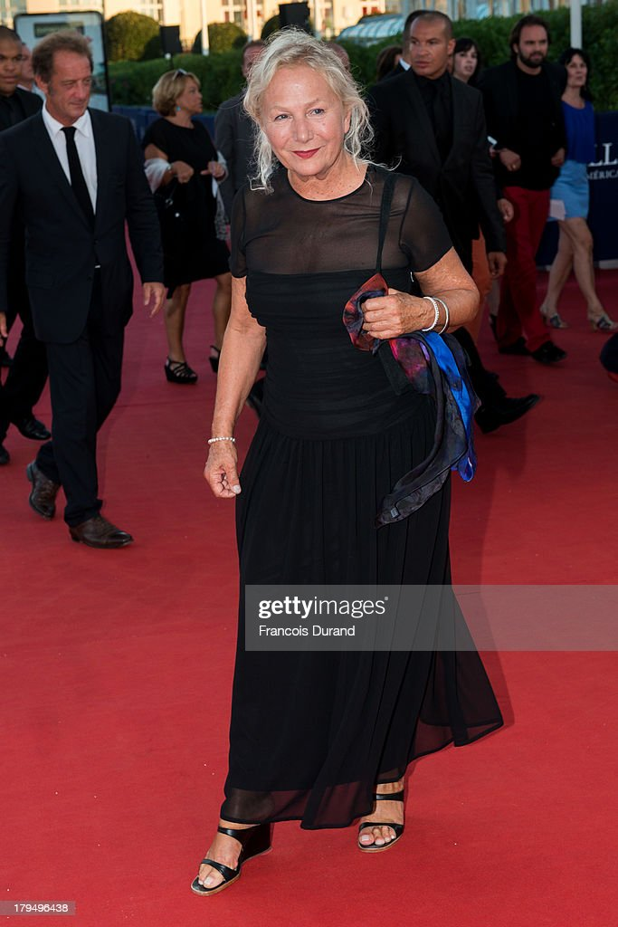 Designer Agnes B arrives at the premiere of the film 'Parkland' during the 39th Deauville American Film Festival on September 4, 2013 in Deauville, France.