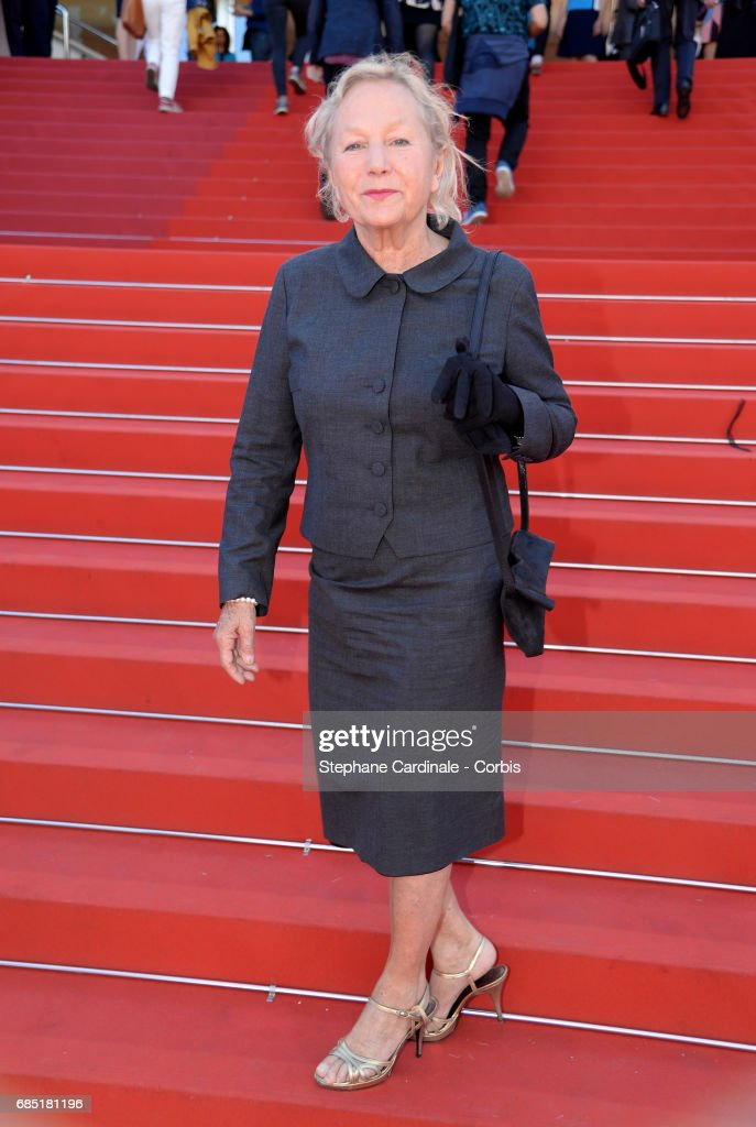 Designer Agnes B attends the 'Faces, Places (Visages, Villages)' premiere during the 70th annual Cannes Film Festival at Palais des Festivals on May 19, 2017 in Cannes, France.