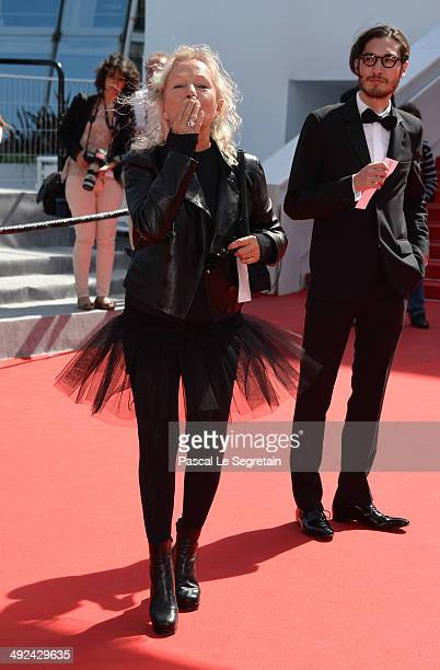 Designer Agnes B attends the 'Futatsume No Mado' premiere during the 67th Annual Cannes Film Festival on May 20 2014 in Cannes France