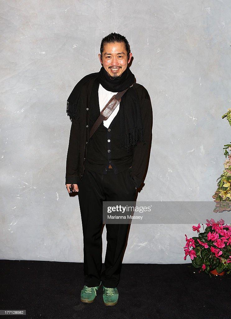 Designer Akira Isogawa at the Strand Arcade's annual evening with designers at the Strand Arcade on August 21 2013 in Sydney Australia