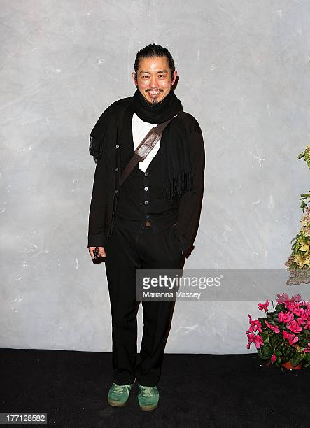 Designer Akira Isogawa at the Strand Arcade's annual evening with designers at the Strand Arcade on August 21 2013 in Sydney Australia