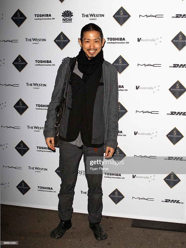 Designer Akira Isogawa attends the front row of the Ksubi collection show closing the fifth and final day of Rosemount Australian Fashion Week...
