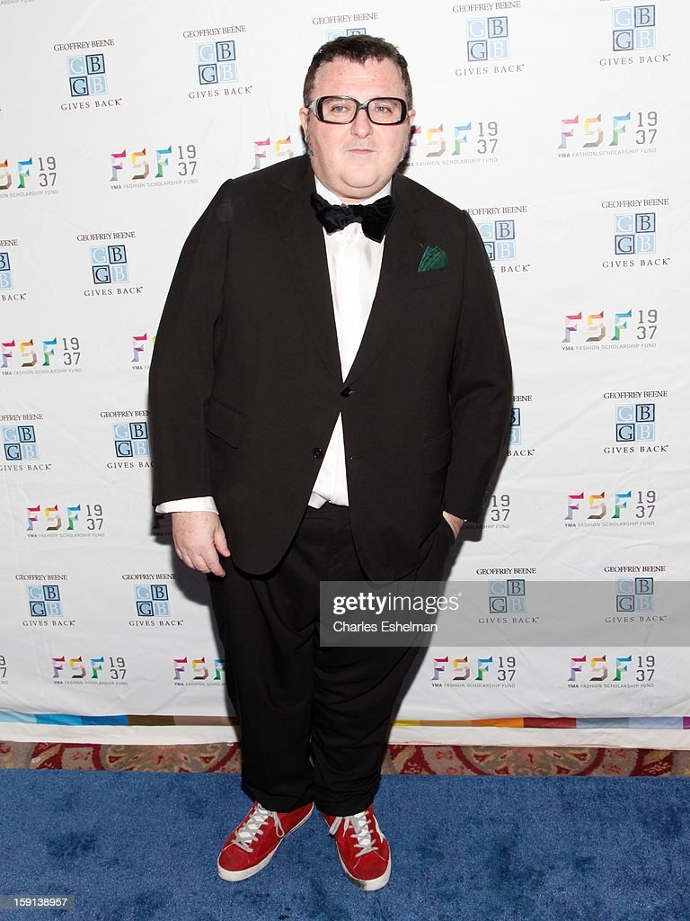 Designer <a gi-track='captionPersonalityLinkClicked' href=/galleries/search?phrase=Alber+Elbaz&family=editorial&specificpeople=783481 ng-click='$event.stopPropagation()'>Alber Elbaz</a> attends the 2013 YMA Fashion Scholarship Fund Geoffrey Beene awards dinner at The Waldorf=Astoria on January 8, 2013 in New York City.