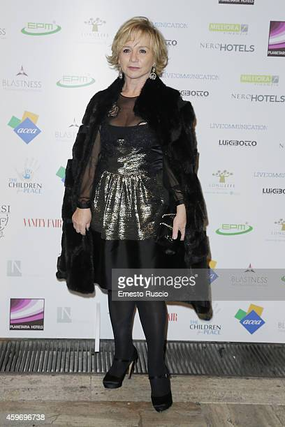 Designer Alberta Ferretti attends the Children for Peace Benifit Gala red carpet at Spazio Novecento on November 28 2014 in Rome Italy