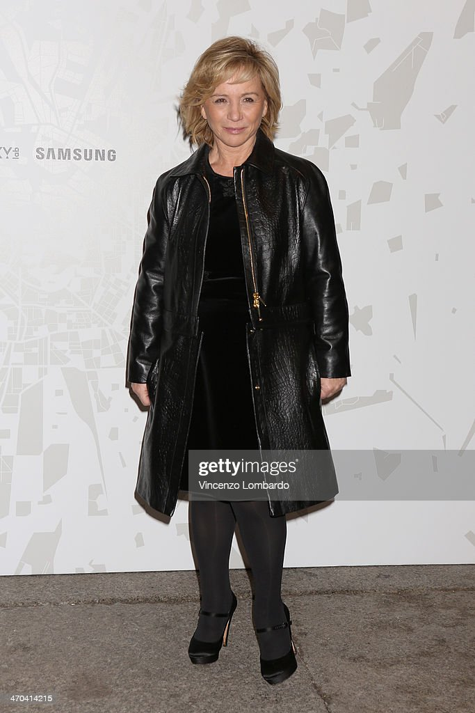 Designer Alberta Ferretti attends the The Vogue Talents Corner fashion show during Milan Fashion Week Womenswear Autumn/Winter 2014 on February 19...