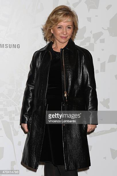 Designer Alberta Ferretti attends the The Vogue Talents Corner fashion show during Milan Fashion Week Womenswear Autumn/Winter 2014 on February 19...
