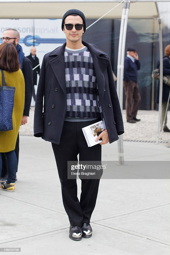 Designer Alessandro Enriquez attends Pitti Immagine Uomo 83 on January 9, 2013 in Florence, Italy.