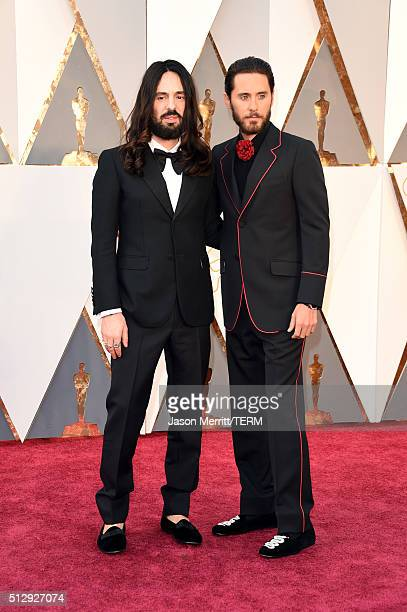 Designer Alessandro Michele and actor Jared Leto attend the 88th Annual Academy Awards at Hollywood Highland Center on February 28 2016 in Hollywood...