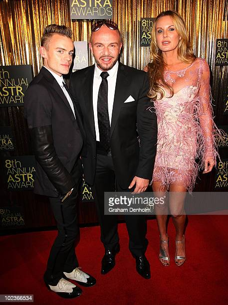 Designer Alex Perry and media personality Charlotte Dawson arrive at the 8th annual ASTRA Awards at the State Theatre on June 24 2010 in Sydney...